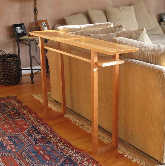 Cm4336s Crystal Falls Dark Cherry Wood Finish Abnormity Sofa Table Wood Sofa Table Wood Furniture Living Room Furniture Of America