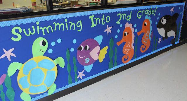 Ocean Themed School Hallway Decorations