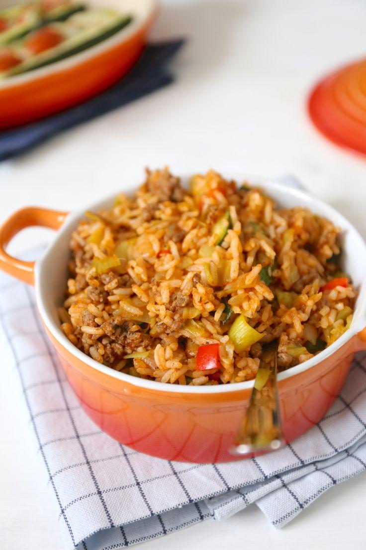 Rijstschotel met gehakt
