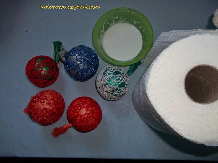 Kolorowe szydełkowe: Bombki po mojemu - część druga :)