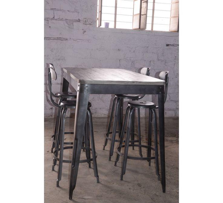 best 25 table haute industrielle ideas on pinterest. Black Bedroom Furniture Sets. Home Design Ideas