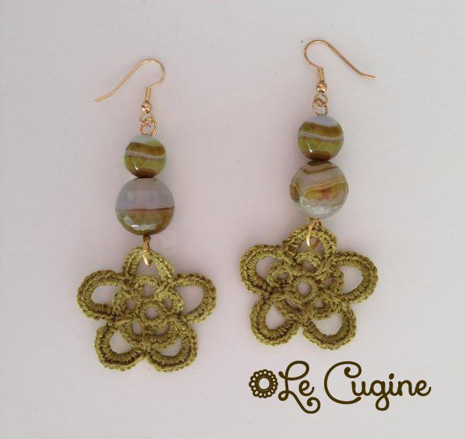 #creazioni #fattoamano #handmade #orecchini #uncinetto #tricottino #pietre #crochet