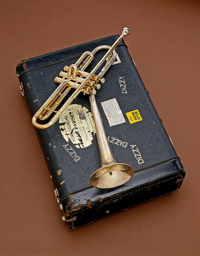 Dizzy Gillespie's B-flat Trumpet, 1972 via @National Museum of American History, Smithsonian #Jazz #Music