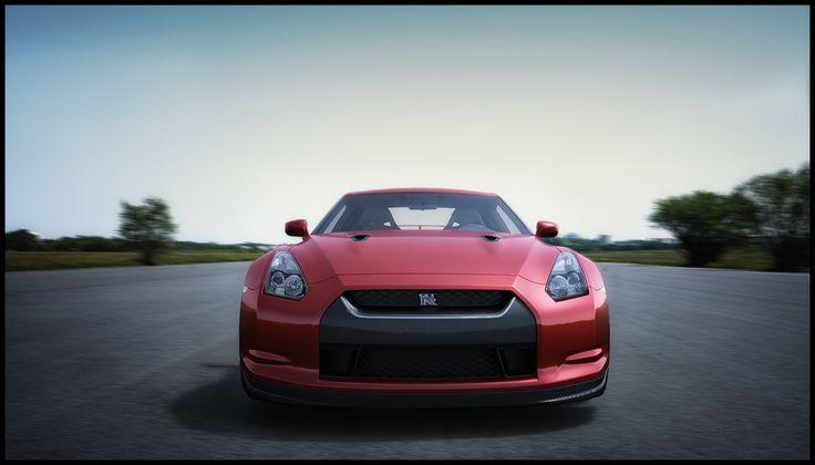 Nissan GTR / CGI render / 3d render / fast car / sports car