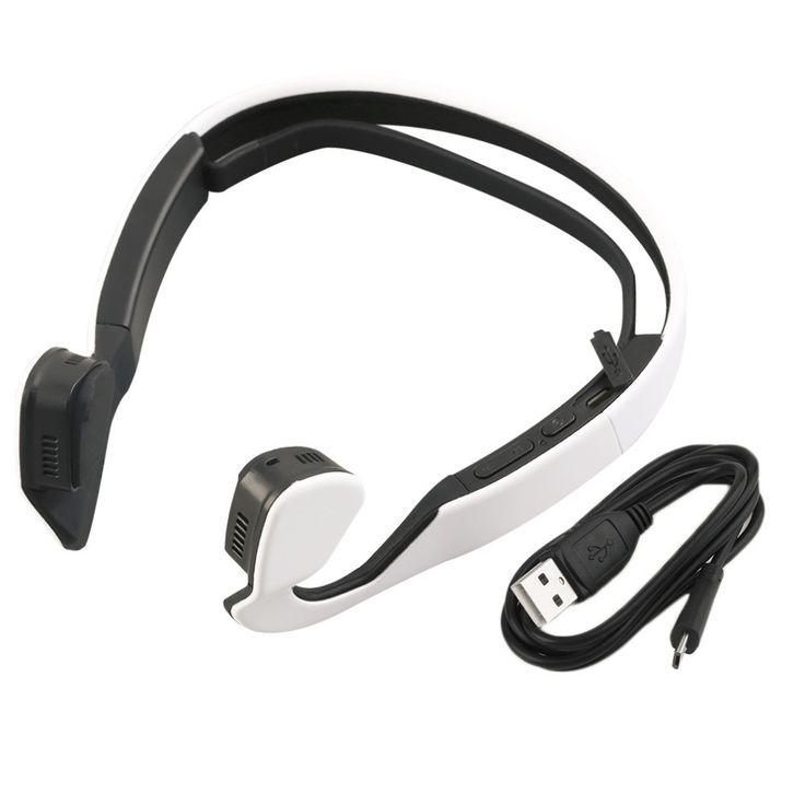 Bone Conduction Bluetooth 4.0 Wireless Stereo Sports Headphone (White)