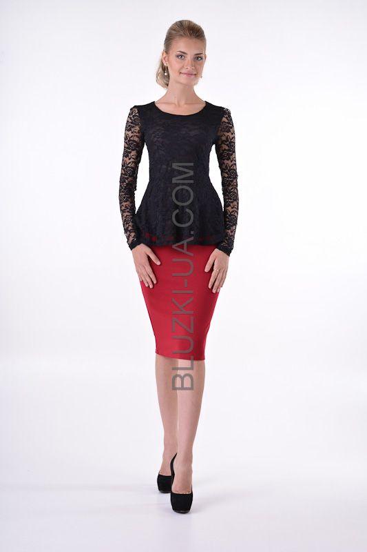 Винно-красная юбка-карандаш для ярких леди - купить в Украине. Интернет-магазин БЛУЗКИ UA,…