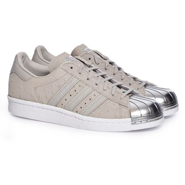 Adidas Superstar 80S metal toe W clgrey ($38) ❤ liked on Polyvore featuring shoes, 80's fashion shoes, adidas shoes, 80s shoes, 1980s shoes and adidas footwear