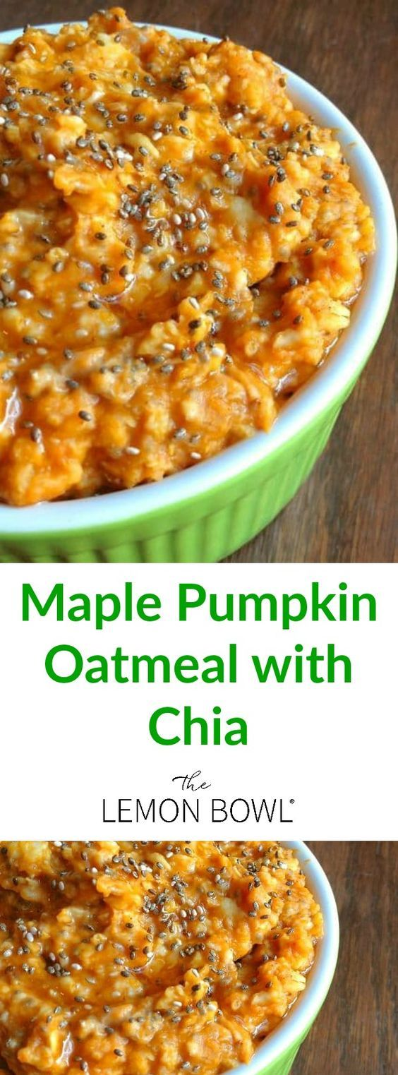 Creamy pumpkin oatmeal is packed with protein and nutrients with just the right amount of pure maple syrup for sweetness.