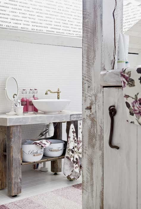 MonMon Shabby Chic, Country style. Bathroom.