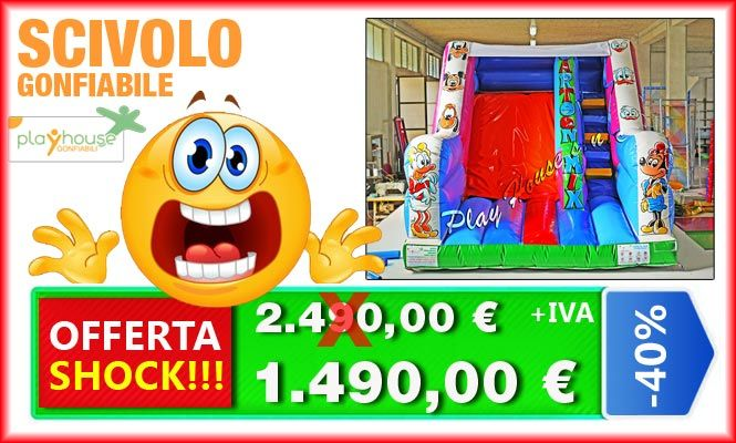 Scivolo gonfiabile 1.490€ offerta shock http://playhousegonfiabili.it/offerte-shock-giochi-bambini/offerte-giochi-gonfiabili-scivoli-gonfiabili-detail.html