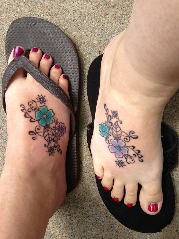 Best friend tattoo with our favorite colors celtic
