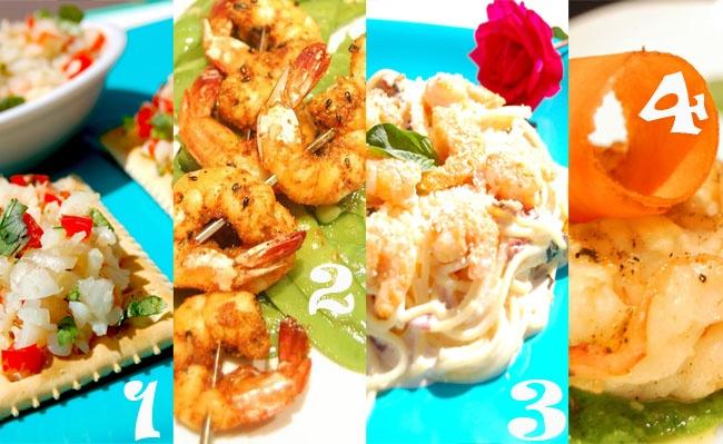 Explota tu creatividad en la cocina. conoce diferentes maneras de comer camarón!
