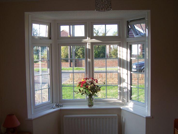 a beautiful internal view of a bay window bay windows