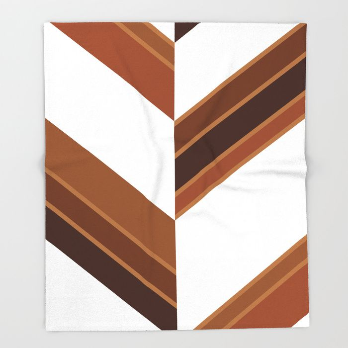 $49.99 Made of 100% polyester and sherpa fleece, these might be the softest blankets on the planet. #blanket #home #decor #stripes #brown #wood #white #elegant #modern #pattern #geometric #asymmetric #buyart #society6 #gift #giftideas