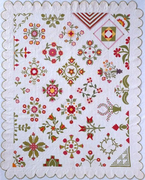 baltimore album quilts | Album-style Applique. 1853-1856. 100 x 81 inches. | Old Album Quilts