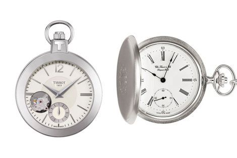 La ligne Tissot Pocket présente un magnifique ensemble de montres à gousset qui rappellent les garde-temps du XIXe siècle. Cette collection unique propose des montres de poche mécanique ou à quartz de 140 euros à 900 euros.