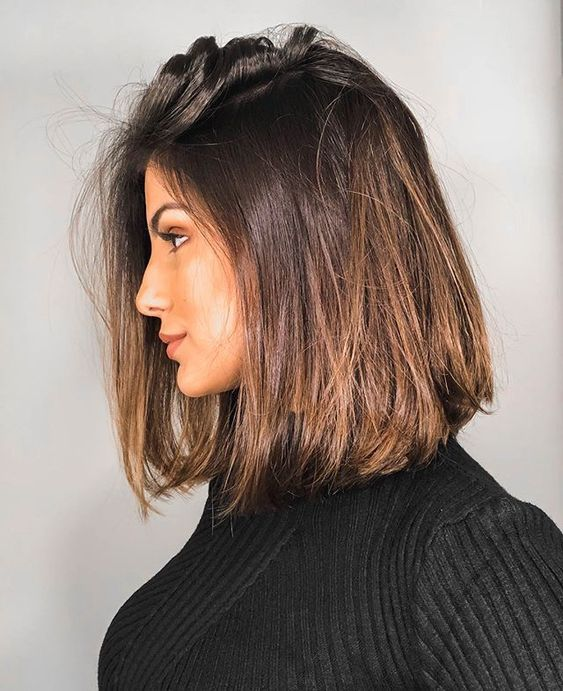 30+ Straight Medium Length Hairstyles for Women to Look Attractive; straight hai…
