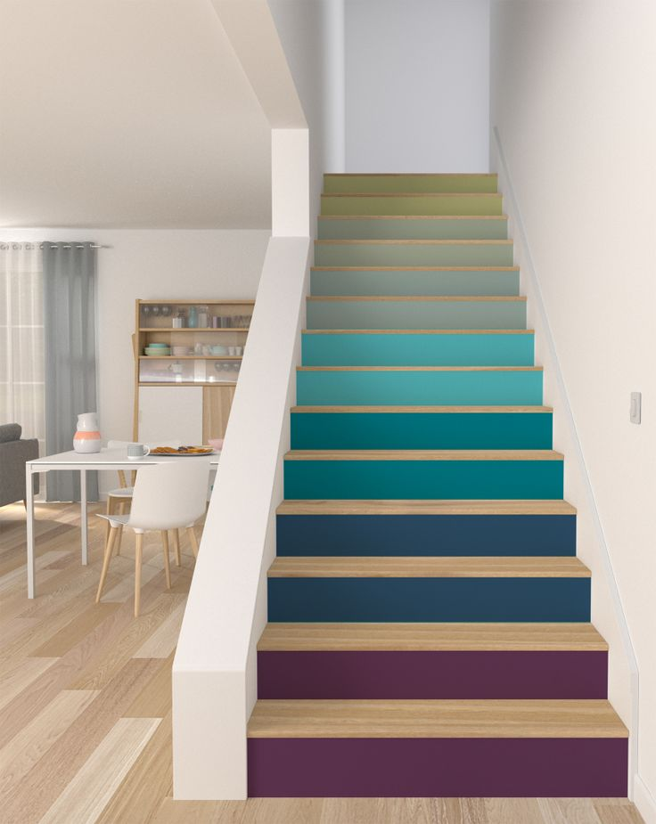 Les 25 meilleures id es de la cat gorie escaliers peints sur pinterest peindre des escaliers for Peindre son escalier