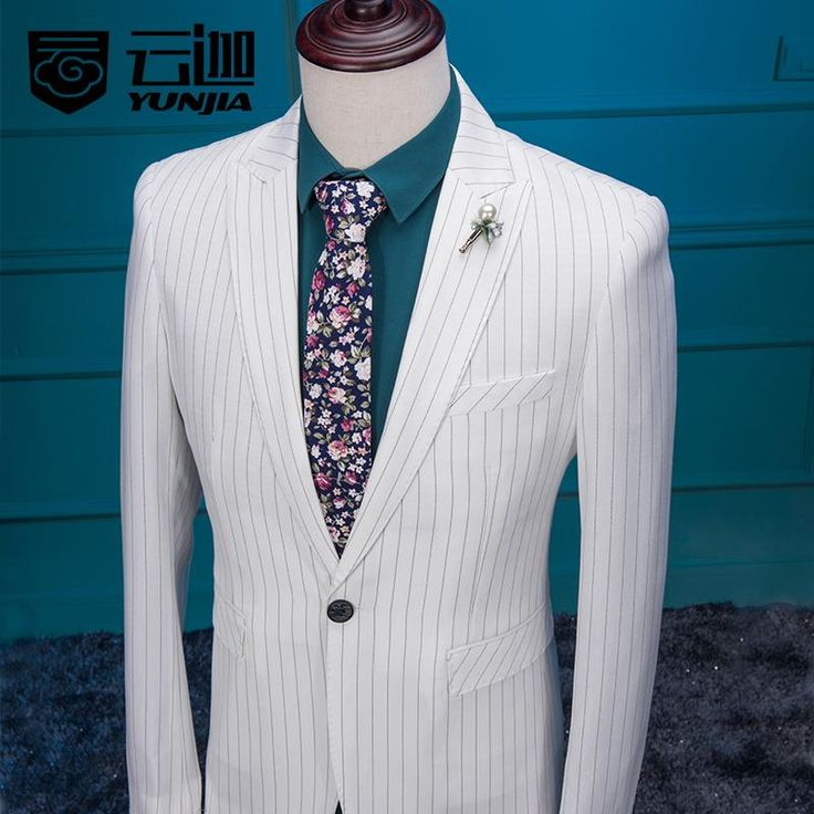 Latest Coat Pant Designs White Pattern Men Suit Slim Fit 3 Piece Suits Skinny Tuxedo Custom Groom Prom Blazer Terno Masculino BL