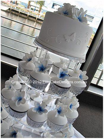 Frangipani Wedding Cupcakes, Elegant Wedding Cakes, Wedding Floral Cakes Sydney, Modern Wedding