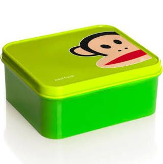 Paul Frank Lunchbox, Kunststoff, 15,6x13,6x6,6cm, grün