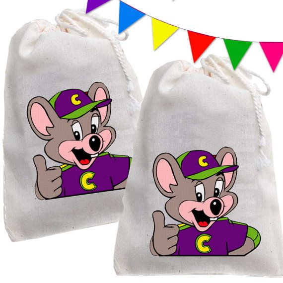 12 Chuck E Cheese Party Birthday Favor Candy Loot by maryahdesigns, $15.00 GREAT IDEA