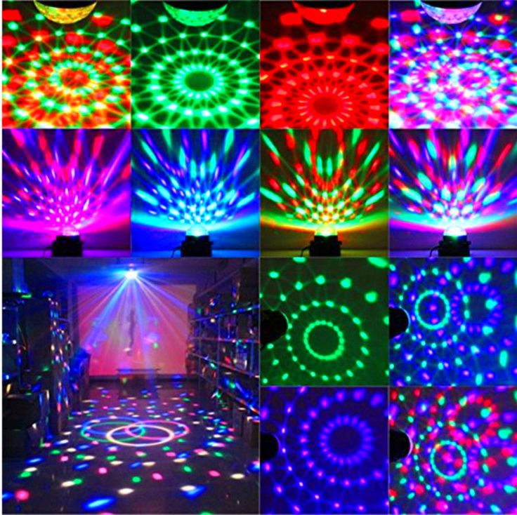 1pcs Led Rgb Dj Club Disco Party Magic Ball Crystal Effect