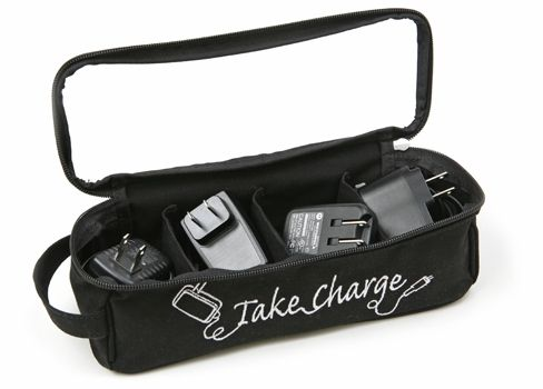 Keep those gadget cords packed and organized for travel.Chargers Cases, Charging Chargers, Charging Kits, Gadgets Cords, Travel Accessories, Travel Tips, Cords Pack, Hair Dryer, Chargers Holders
