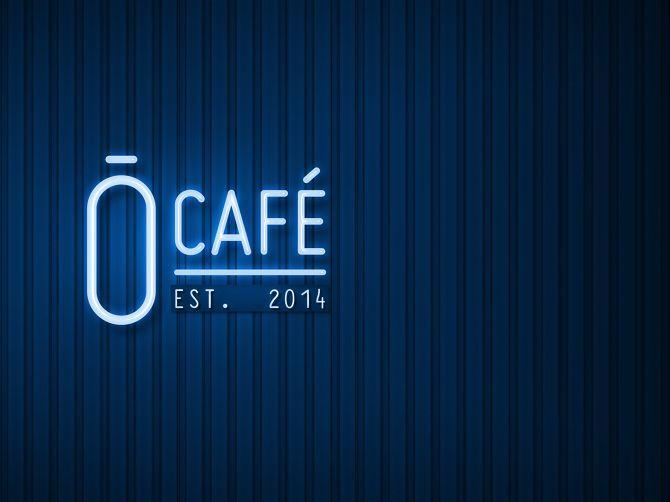 Ō Café - logo by Priscila Kurata  #neon