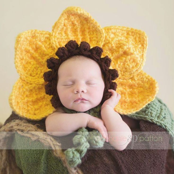 ❤ Sunflower bonnet .. Perfect for spring photos ❤