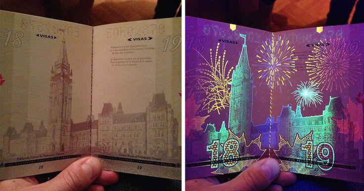 Le nouveau passeport canadien arbore des images cachées, visibles grâce aux ultraviolets.