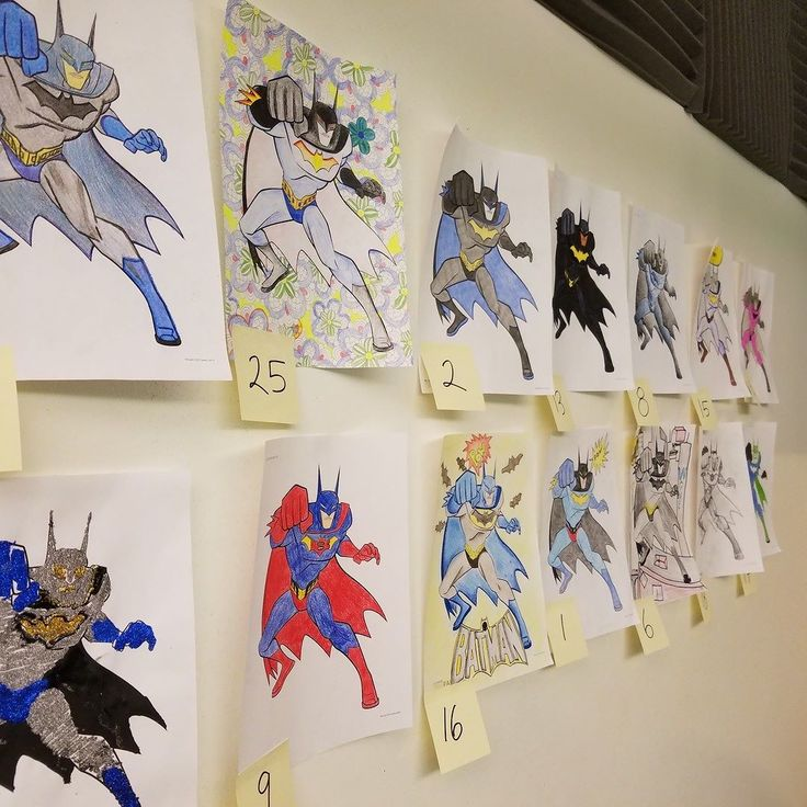 The Batman entries from our #BatmanvSuperman coloring contest today! #circlepix