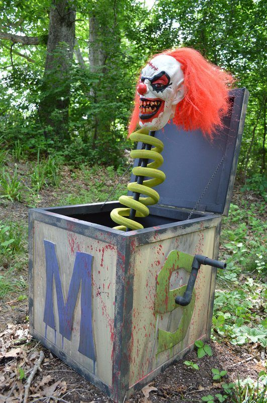 Scary Clown Jack in the Box Halloween Prop