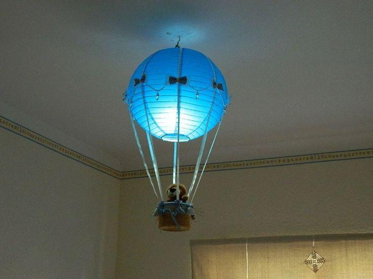 Paso a paso de una lámpara de globo aerostático para la habitación del bebé