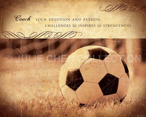 Soccer Coach Gift Soccer Art Coach Thank You par LifeVerseDesign