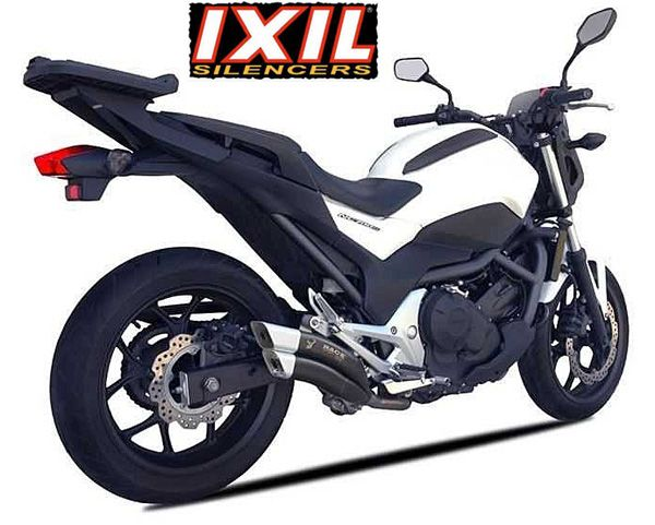 Honda NC700 X/S NC750 X/S 2012~16 Euro 3 IXRACE 2 Black Silencer E~Marked