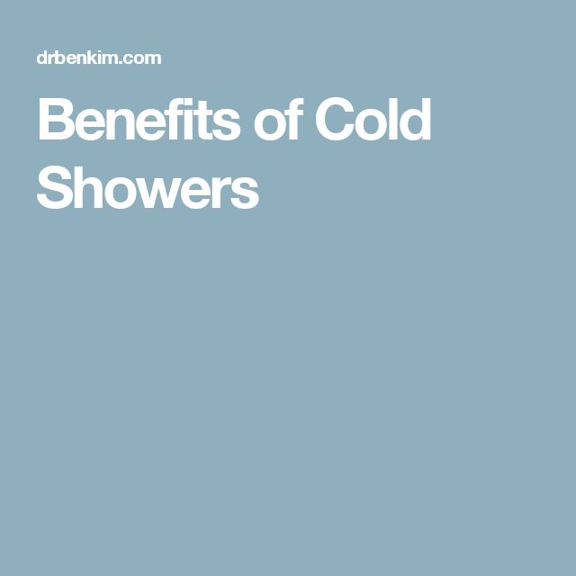 Benefits of Cold Showers #DrBenKim