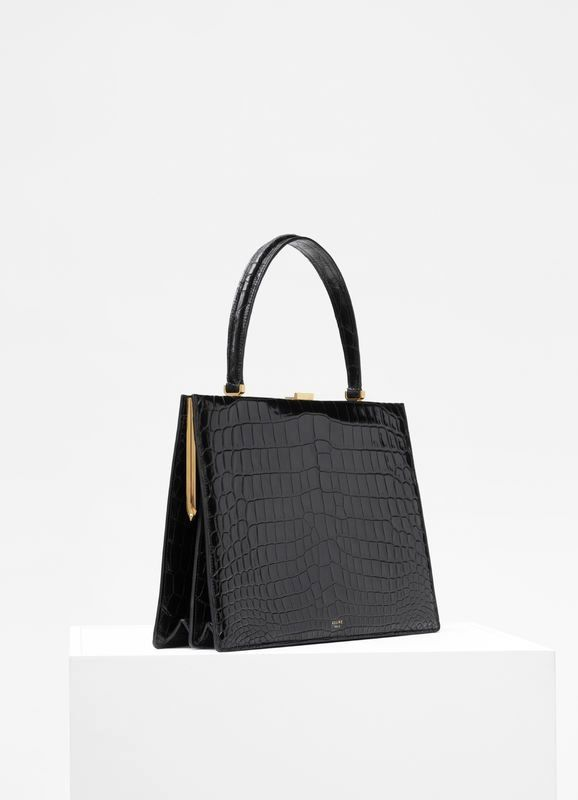 Medium Clasp bag in crocodile  f9031e06d78b5