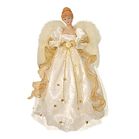Gold Trim Angel Tree Topper