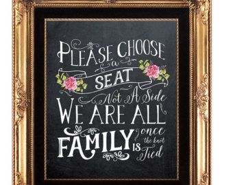 chalkboard wedding sign printable wedding sign pick a seat