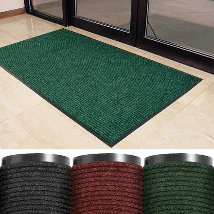 "Deluxe Vinyl Carpet Mat, 3' x 6' Red - 1 EACH [PRICE is per EACH] by Shipping Supply. $83.50. Non-slip vinyl backing. Raised ribs run the length of the mat. 3/8"" thickness."