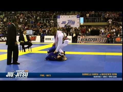 OPEN CLASS Gabrielle Gabi Garcia vs Mackenzie Dern IBJJF European 2015 FINALS - YouTube
