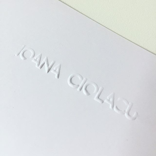 Proud of our new embossed logo stamps #emboss #stamp #logo #ioanaciolacu
