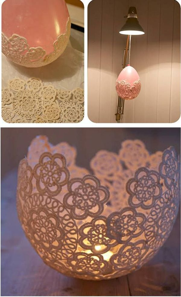 creative diy candle holders made from doilies