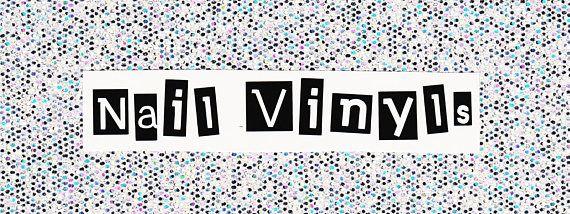 nail vinyls label for nail art storage. organization