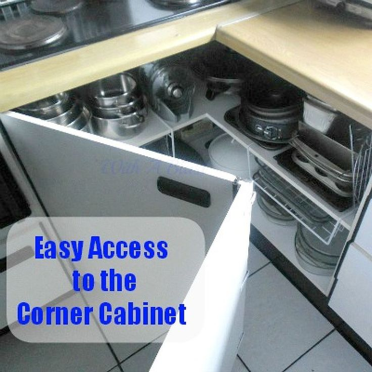 Create Easy Access to the Kitchen Corner Cabinets