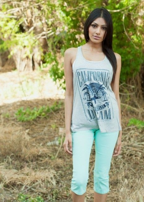 Mint Capris, $32.99. Summer is here! Get ready with these solid mint capris. They feature a slightly stretchy fit and functional front and back pockets making them comfortable and easy to wear. Pair with one of our tees for a simple, carefree look. http://bellaellaboutique.com/product/mint-capris/
