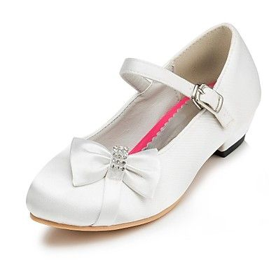 schoenen meisjes troosten platte hak flats met satijnen strik trouwschoenen meer kleuren beschikbaar – EUR € 25.78
