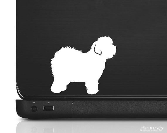 Old English Sheepdog Silhouette Vinyl Sticker by silhouetteMYpet