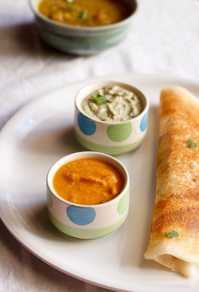 red chutney recipe for dosa, how to make red chutney without coconut